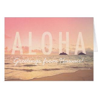Hawaiana de la tarjeta de Hawaii