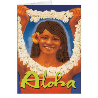 Hawaiana de los leus felicitación