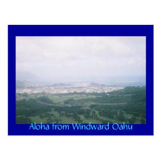 Hawaiana de Oahu de barlovento Tarjeta Postal