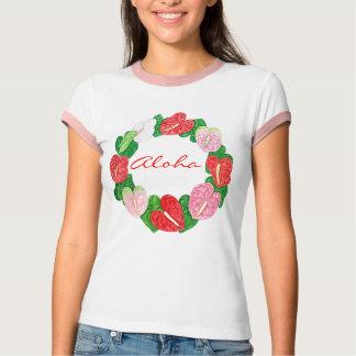 Hawaiana del Anthurium Camisetas