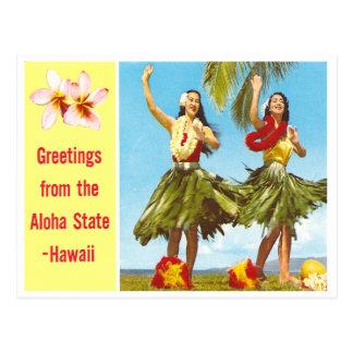 Hawaiana del vintage postal
