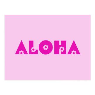 Hawaiana en rosa tarjeta postal