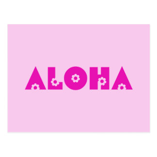Hawaiana en rosa postal