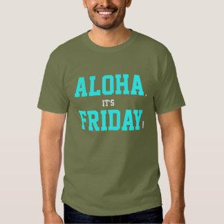 ¡Hawaiana, es viernes! Azules cielos de la Camisetas