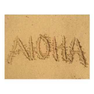 Hawaiana escrita en arena postal