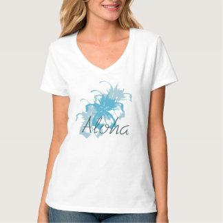 Hawaiana floral camiseta