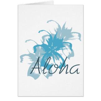Hawaiana floral felicitación