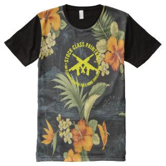 Hawaiana hawaiana de Paintball de la clase común Camiseta Con Estampado Integral
