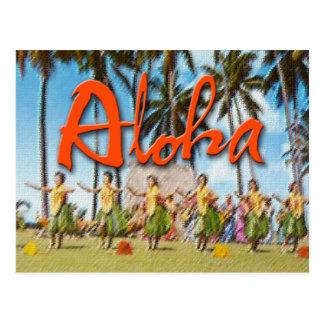 Hawaiana Hula Postal