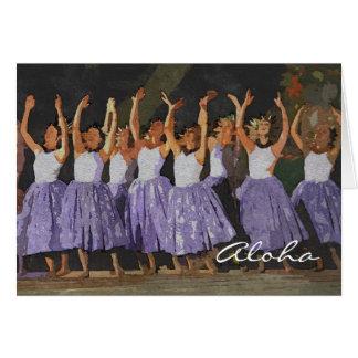 Hawaiana Hula Felicitación