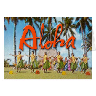 Hawaiana Hula Tarjeta