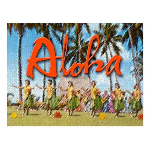 Hawaiana Hula Postales