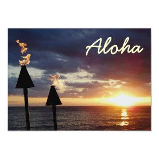 Hawaiana Invitación 12,7 X 17,8 Cm