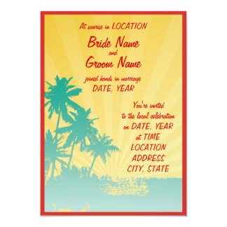 ¡hawaiana! invitación 12,7 x 17,8 cm