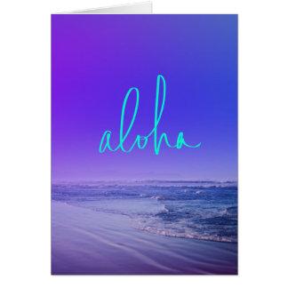 Hawaiana Tarjeta De Felicitación