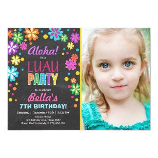 Hawaiana tropical del cumpleaños de la invitación
