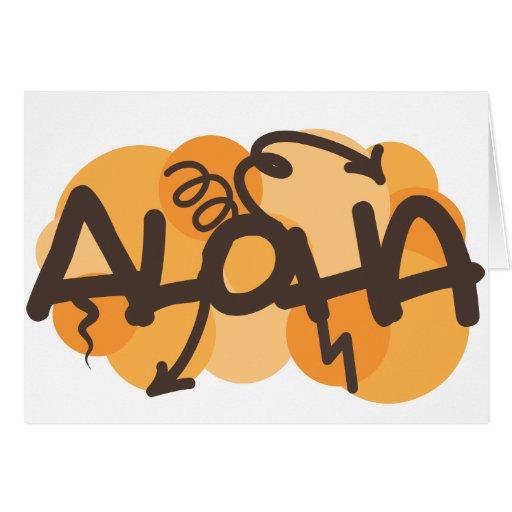 Hawaiano - estilo de la pintada de la hawaiana felicitacion