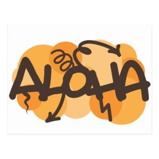 Hawaiano - estilo de la pintada de la hawaiana postal