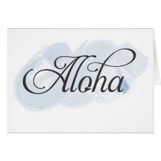 Hawaiano - hawaiana tarjeta