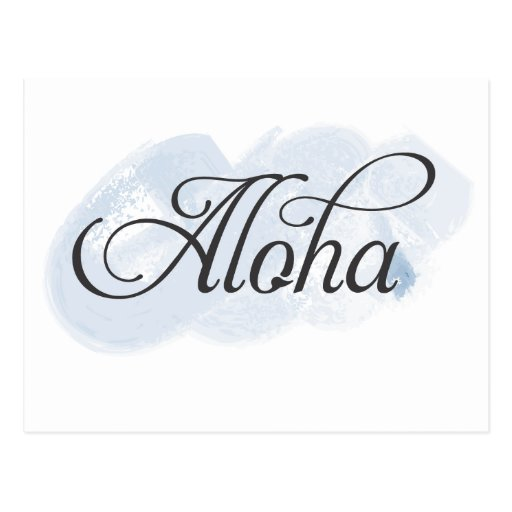Hawaiano - hawaiana tarjeta postal