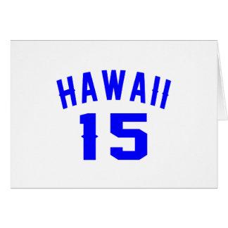 Hawaii 15 diseños del cumpleaños tarjeta de felicitación