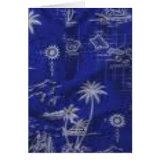 Hawaii azul impresión de la hawaiana del vintage tarjeta