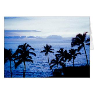 Hawaii en azul tarjeta pequeña