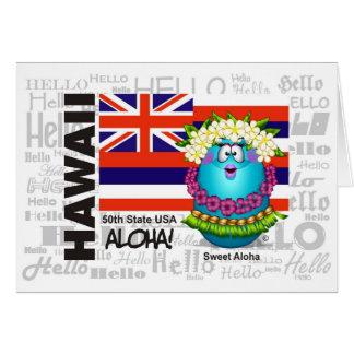 Hawaii - hawaiana tarjeta de felicitación