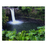 Hawaii, isla grande, Hilo, caídas del arco iris, b Póster