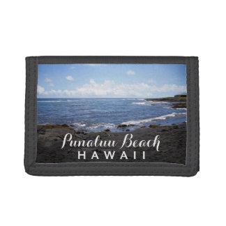 Hawaii • Playas negras de la arena de Punalu'u