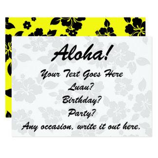 Hawaiian oscuro amarillo invitación 12,7 x 17,8 cm