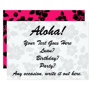 Hawaiian oscuro rojo invitación 12,7 x 17,8 cm