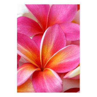 Hawaiian rosado de la flor de Hawaii del Tarjetas De Visita Grandes