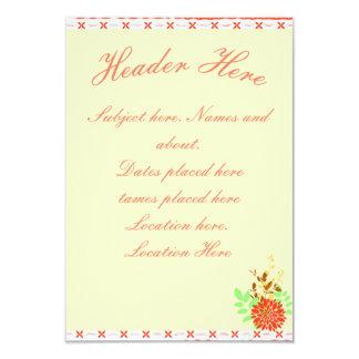 Hawaiian sutil invitación 8,9 x 12,7 cm