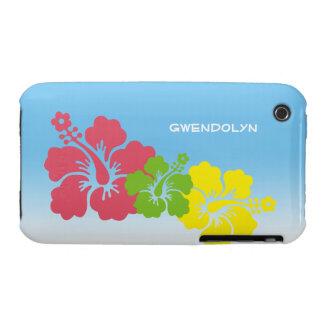 Hawaiian tropical del trío del flor de las flores funda bareyly there para iPhone 3 de Case-Mate