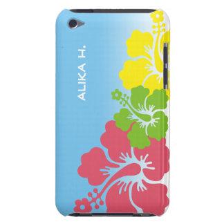 Hawaiian tropical del trío del flor de las flores funda para iPod