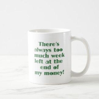 Hay siempre demasiada semana dejada… taza de café