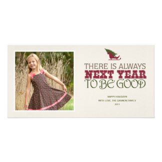 Hay siempre el próximo año ser bueno - navidad tarjeta personal con foto