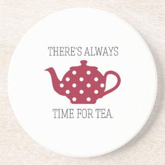 Hay siempre hora para el té posavasos cerveza
