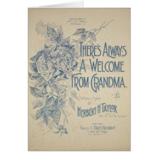 Hay siempre una recepción de la abuela tarjeta de felicitación