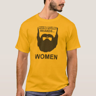 Hay un nombre para la gente sin las barbas… camiseta