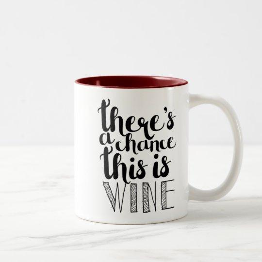 Hay una ocasión que ésta es taza del vino