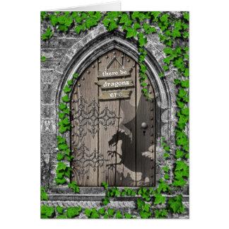 Haya rey Arturo Medieval Dragon Door de los Tarjeta