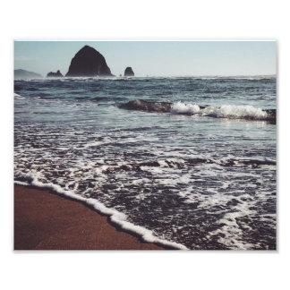 Haystack en la costa de Oregon Arte Fotografico