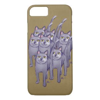 Hazaña feliz de los gatos funda iPhone 7