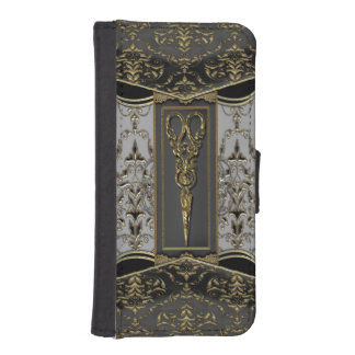 Hazlehurst escarpado Antiqued Scissors gótico Funda Tipo Cartera Para iPhone 5