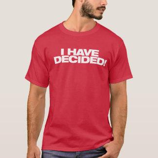 He decidido la camisa del bautismo