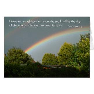 He fijado mi arco iris en las nubes,… tarjeta de felicitación