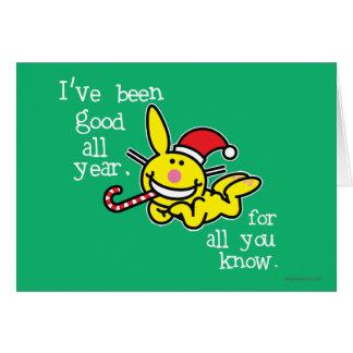 He sido bueno todo el año tarjeta de felicitación