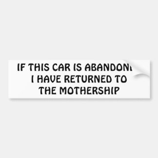 He vuelto a la maternidad pegatina para coche